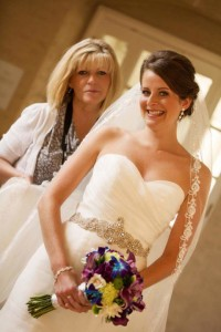 Nora working with a Bride